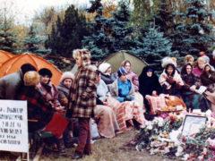 Участницы голодовки