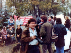 Участницы голодовки и СМИ